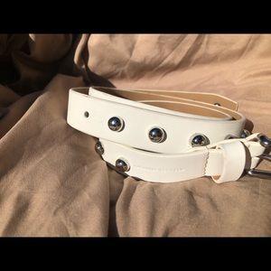 New Rebecca Minkoff white women belt